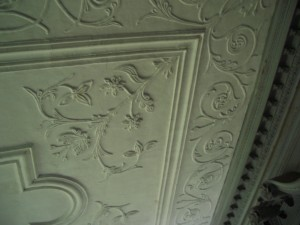 ceiling in Drayton Hall