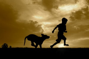 Child and dog_2
