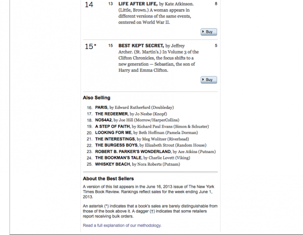 LFM lands on NYT bestsellet list
